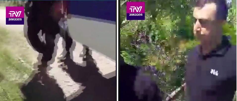 """""""კამერას ხელი გაუშვი!"""" – პოლიციის თავდასხმა ტვ პირველის გადამღებ ჯგუფზე (ვიდეო)"""